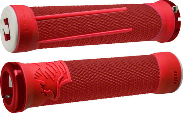ODI AG-2 Lock-On Grips Color | Length: Red/Fire Red | 135mm