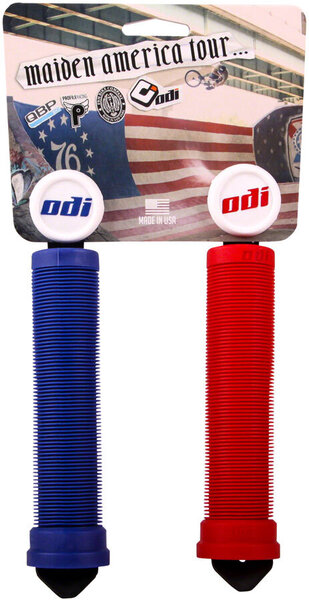 ODI Maiden America Grips Color: Red/White/Blue