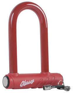 Odyssey Slugger Aluminum U-Lock Color: Red