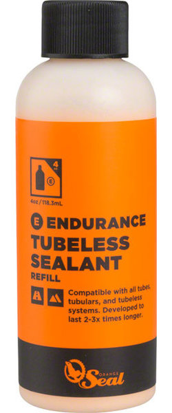 Orange Seal Endurance Tubeless Tire Sealant Model | Size: Refill | 4-ounce