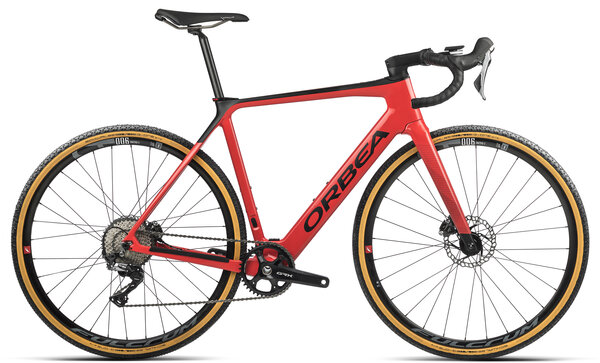 Orbea GAIN M20 1X 20mph Color: Coral Gloss/Black Matte