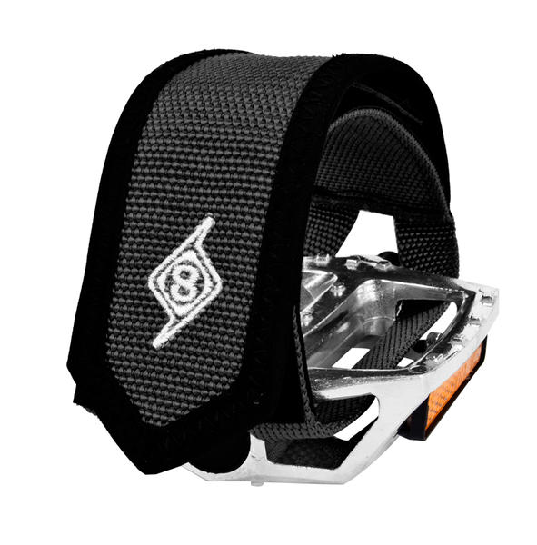 Origin8 Pro Grip II Toe Straps Color: Black