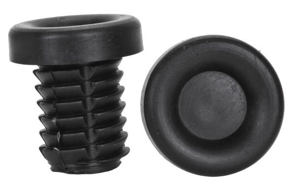Origin8 Rubber End Plugs Color: Black