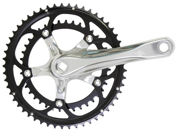 Origin8 Pro Pulsion Alloy Road Crankset - 130mm BCD/5-Bolt (53/39) Color: Silver