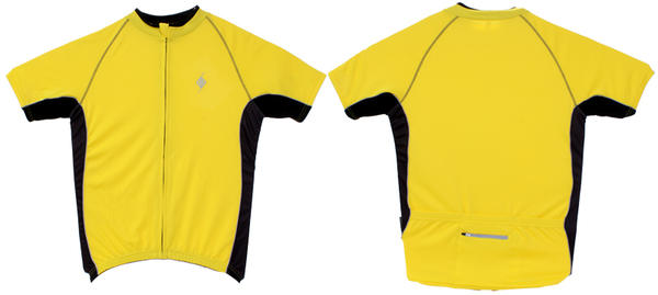 Origin8 TechSport Road Cycling Jersey Color: Yellow
