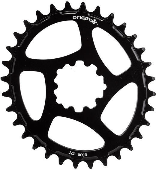 Origin8 Holdfast Oval Direct 1x Chainring Bottom Bracket | Color | Size: BB30 | Black | 32T