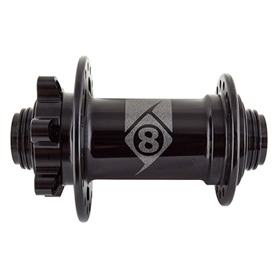 Origin8 MT-1110 Elite MTB Front Hub Axle | Hole Count | Model: 100 x 15mm | 32-hole | J-Bend Spoke