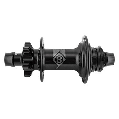 Origin8 MT-1110 Elite MTB Single Speed Hub Axle | Cassette Compatibility | Hole Count: Bolt-on | Shimano Single Speed | 32-hole