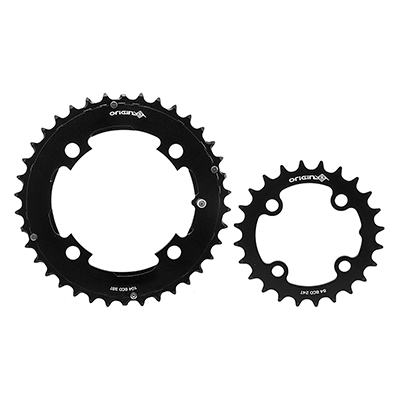 Origin8 Thruster 64/104mm BCD Chainring Set BCD | Color | Size: 104mm | Black | 24/38T