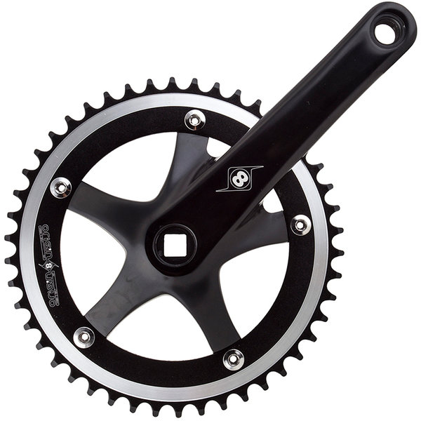 Origin8 Trackstar Crankset Color: Black