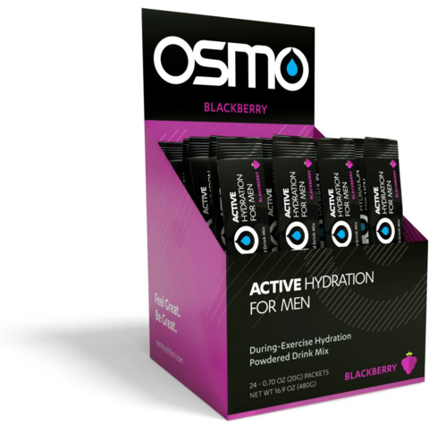 Osmo Nutrition Active Hydration for Men Single Serves Flavor: Blackberry