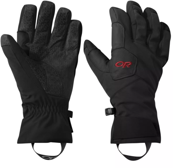 Outdoor Research Bitterblaze Gloves Color: Black/Tomato