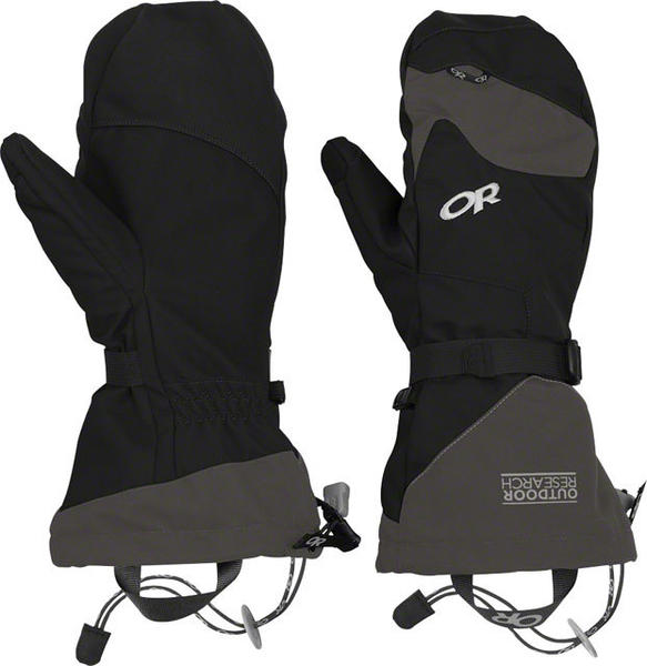 Outdoor Research Meteor Mitts Color: Black/Charcoal