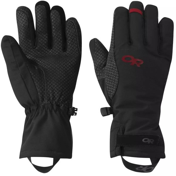 Outdoor Research Ouray Ice Gloves Color: Black/Tomato