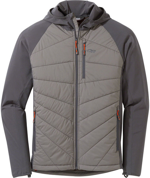 Outdoor Research Refuge Hybrid Hooded Jacket Color: Pewter/Storm