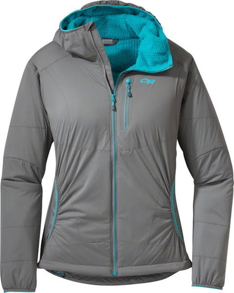 Outdoor Research Women's Ascendant Hoody Color: Pewter/Typhoon