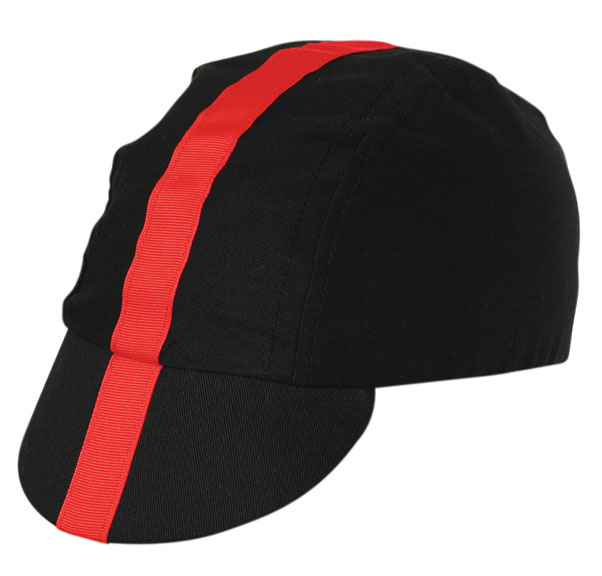 Pace Sportswear Classic Cycling Cap Color: Black/Red