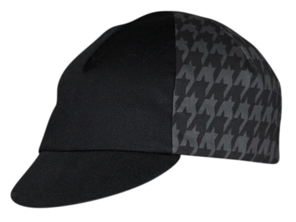 Pace Sportswear Hounds Tooth Cycling Cap Color: Black/Grey Hounds Tooth
