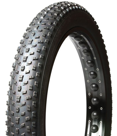 Panaracer Fat B Nimble Fatbike Tire 26-inch Color | Model | Size: Black | Folding Bead | 26 x 4.0