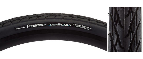Panaracer TourGuard 700C Color: Black/Black