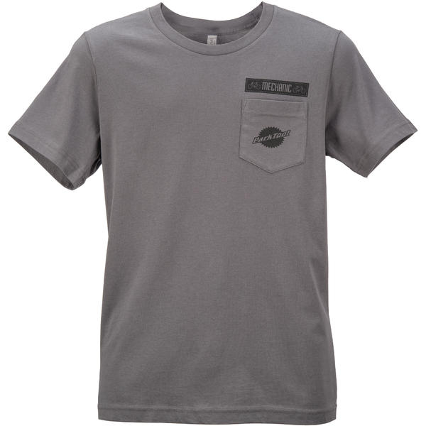 Park Tool Pocket T-Shirt Color: Charcoal Gray