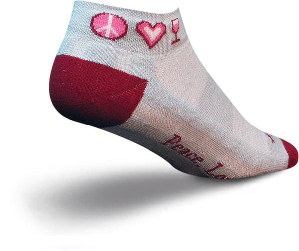 SockGuy Channel Air Peace Love Wine Socks - Women's