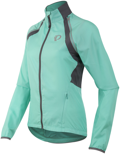 Pearl Izumi Women's ELITE Barrier Convertible Jacket Color: Aqua Mint/Smoked Pearl