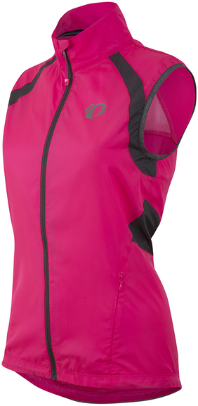 Pearl Izumi Women's ELITE Barrier Vest Color: Screaming Pink/Smoked Pearl