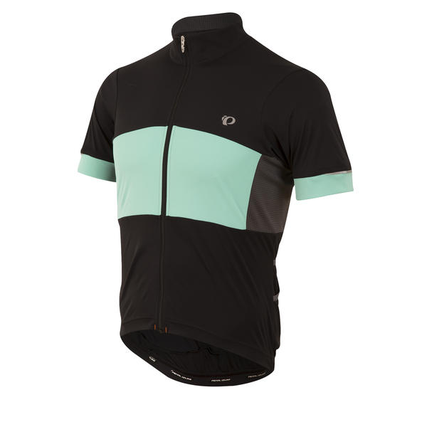 Pearl Izumi ELITE Escape Semi-Form Jersey Color: Black/Aqua Mint