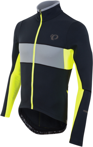Pearl Izumi ELITE Escape Thermal Long Sleeve Jersey Color: Black/Screaming Yellow 2