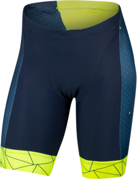 Pearl Izumi Men's ELITE Graphic Tri Short Color: Navy/Screaming Yellow Perplex