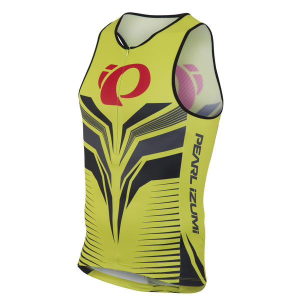 Pearl Izumi ELITE In-R-Cool LTD Tri Singlet Color: Apose Lime Punch