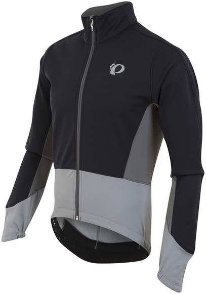 Pearl Izumi Men's ELITE Pursuit Softshell Jacket Color: Black/Monument Grey