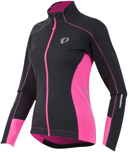 Pearl Izumi ELITE Pursuit Softshell Jacket - Women's Color: Black/Screaming Pink