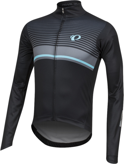 Pearl Izumi Men's ELITE Pursuit Thermal Graphic Jersey Color: Black/Smoked Pearl Diffuse