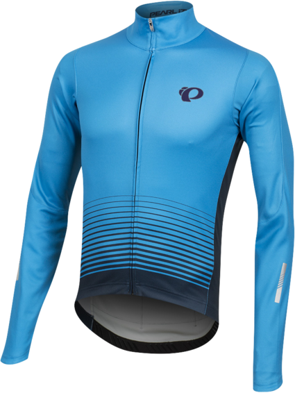 Pearl Izumi Men's ELITE Pursuit Thermal Graphic Jersey Color: Atomic Blue Diffuse