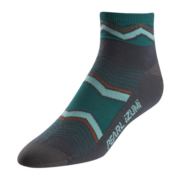 Pearl Izumi Women's ELITE Sock Color: Chevrons Viridian Green