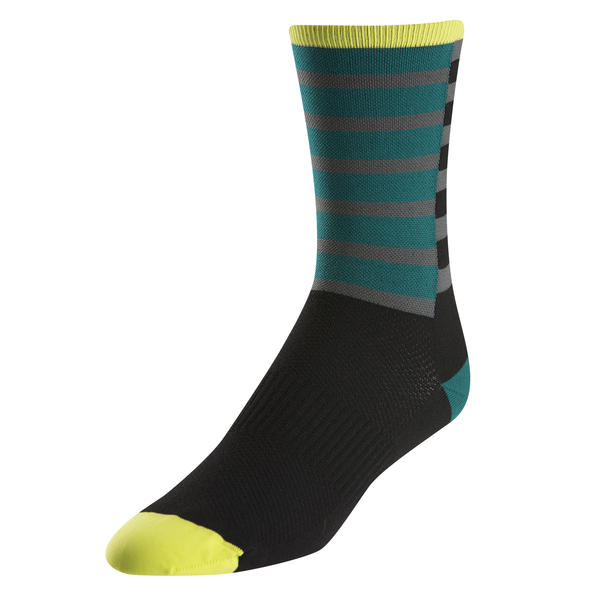Pearl Izumi ELITE Tall Sock Color: Band Stripe Green