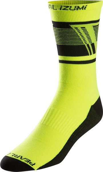Pearl Izumi ELITE Tall Sock Color: Ascend Screaming Yellow