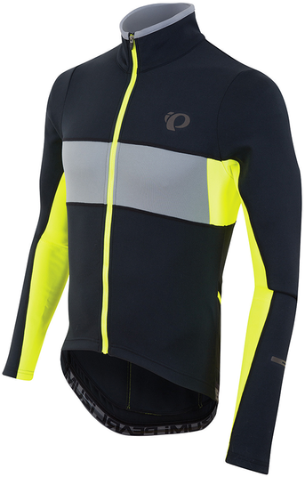 Pearl Izumi Men's Elite Escape Thermal LS Jersey Color: Black/Screaming Yellow