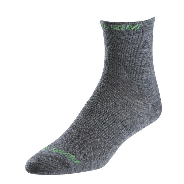 Pearl Izumi Men's ELITE Wool Socks Color: Shadow Gray