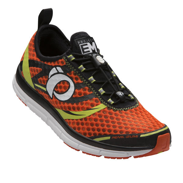 Pearl Izumi EM Tri N2 V2 Color: Red Orange/Lime Punch