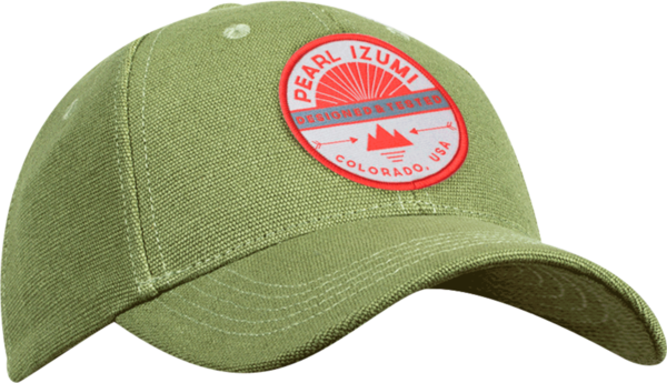 Pearl Izumi Hemp Baseball Hat Color: PI Stamp Olive