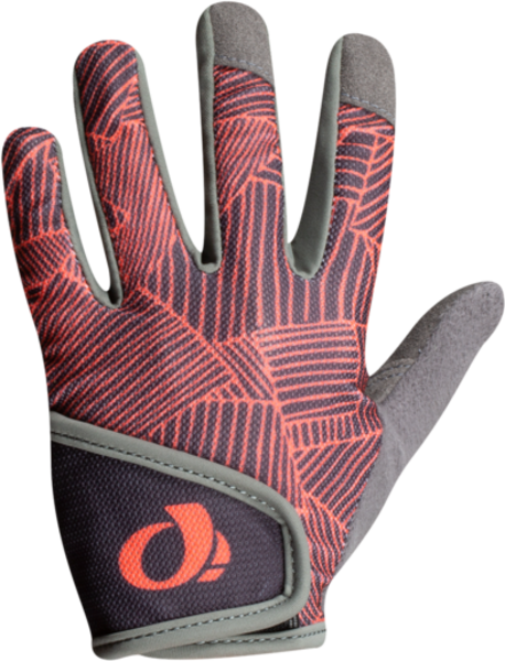 Pearl Izumi Junior MTB Glove Color: Phantom/Fiery Coral Lucent