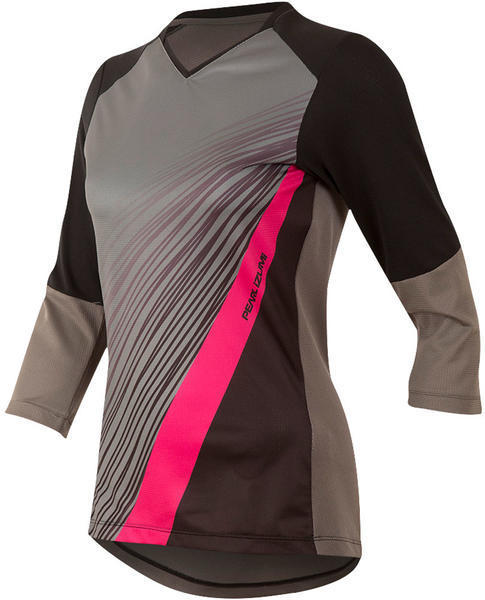 Pearl Izumi Women's Launch 3/4 Sleeve Jersey Color: Black / Smoked Pearl Fracture
