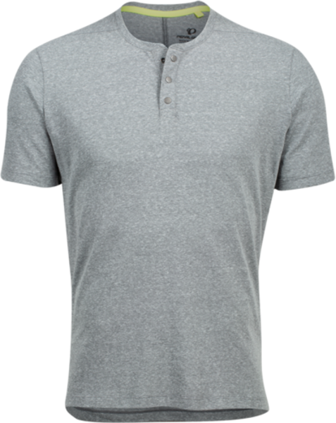 Pearl Izumi Men's Coast Henley Color: Heather Grey