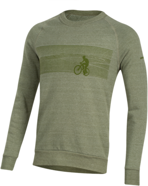 Pearl Izumi Men's Crew Sweatshirt Color: Landscape Bike Army Green