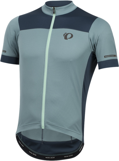 Pearl Izumi Men's ELITE Escape Semi-Form Jersey Color: Arctic/Midnight Navy