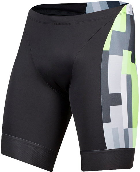 Pearl Izumi Men's ELITE Graphic Tri Shorts Color: Screaming Green Plexus
