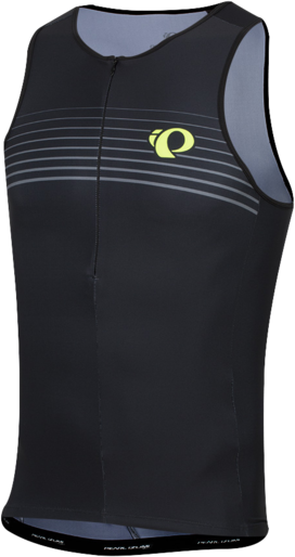 Pearl Izumi Men's ELITE Pursuit Graphic Tri Singlet Color: Black/Screaming Yellow Foil